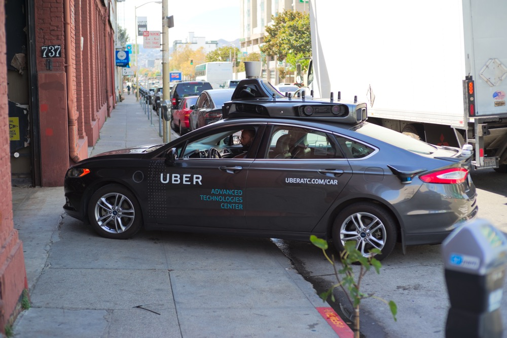 Uber autonomous vehicle prototype testing in San Francisco