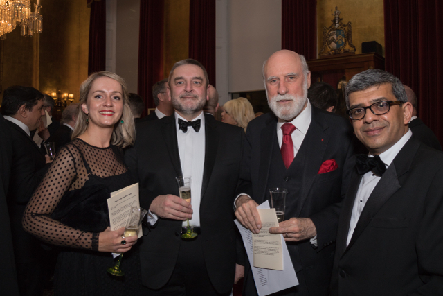 Steve Smith and friends with Vint Cerf at the ISSA Annual Dinner